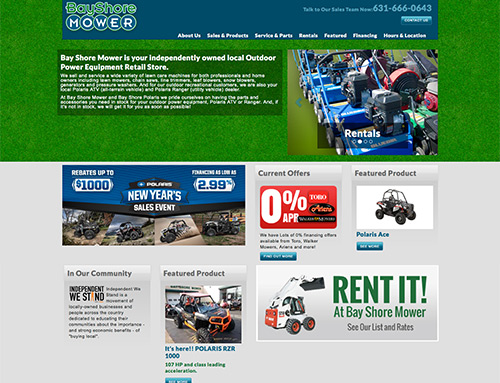 Bayshore Mower Website Design