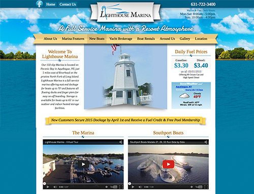 Lighthouse Marina Website Design
